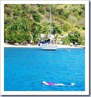 Julie swimming at Cooper Island
