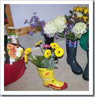 Flower boots