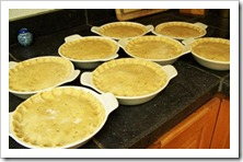 Unbaked pot pies