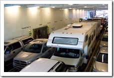 Motorhome on ferry