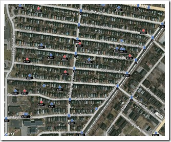 Snapshot of streets in East Cleveland