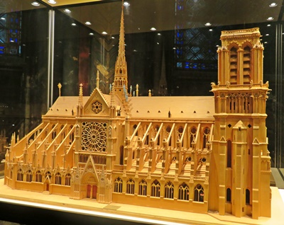 Model of Notre Dame, located inside cathedral