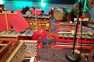 Ornate instruments in gamelan