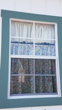 Curtains in the shed