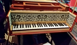 One of the harpsichords in the concert