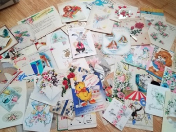 Julie Lary, rajalary, vintage cards