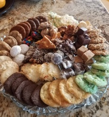 All the cookies and candies, ready for Thanksgiving
