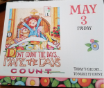 Mary Engelbreit calendar page, rajalary, julie lary, scribbles writing