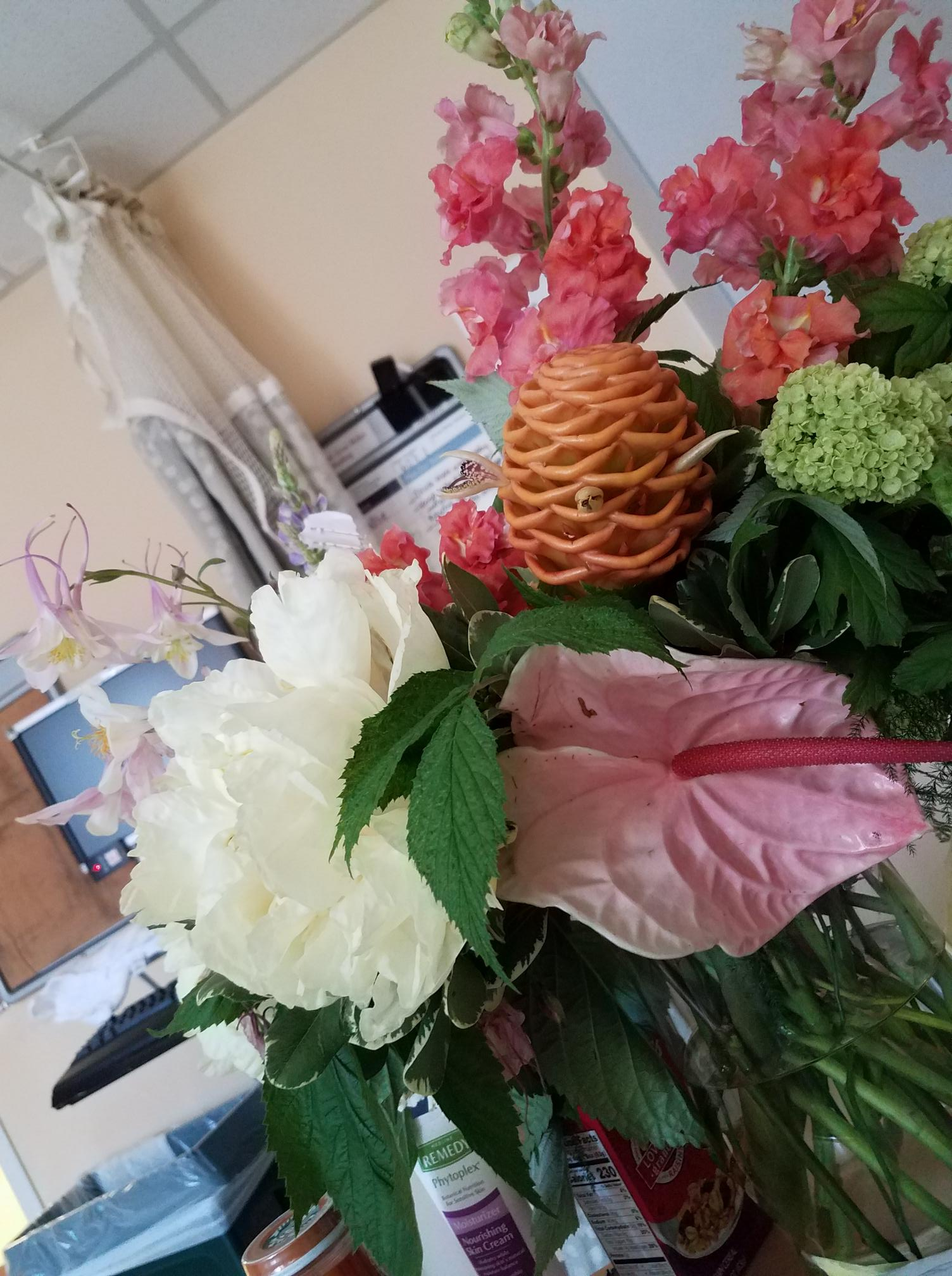 rajalary, julie lary, richard lary, scribbles writing, flowers from Bridge Partners